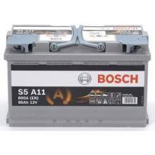 BATTERIA - BOSCH PASSENGER CAR S5A 12V 80A 800(EN)  --   AGM - 0092S5A110