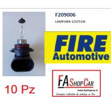 CONFEZIONE 10 PZ LAMPADA FIRE AUTOMOTIVE HB4-12V/51W - F209006_10
