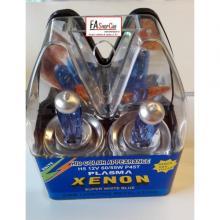 COPPIA LAMPADE H5 12V P415t 60/55W XENON BLUE SUPER WHITE - F20400SWT
