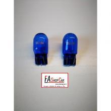 COPPIA DI LAMPADE 12V 21/5W W21/5W W3X16q NATURAL BLUE SUPER WHITE XENON EFFECT - F20580B-SWT