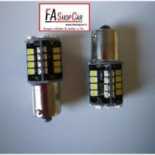 COPPIA LAMPADE LED SMD 12V BA15S LUCE BIANCA - F31015W