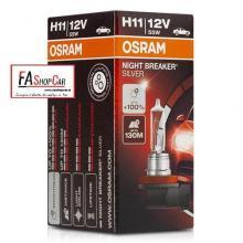 LAMPADA OSRAM H11 12V NIGHT BREAK SILVER SOSTITUISCE OS64211NBU +100% LUCE - OS64211NBS