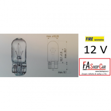 LAMPADA T10 12V 5W VETRO - F20501